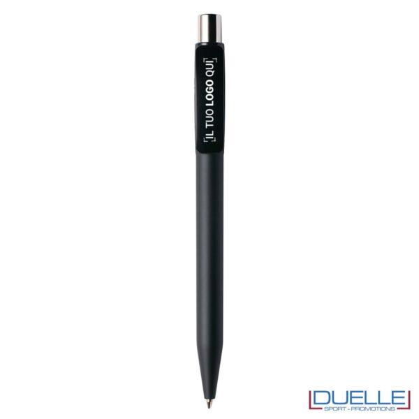 Penna Made in Italy personalizzata nero effetto gommato, gadget aziendali, penne personalizzate, gadget personalizzati, articoli promozionali