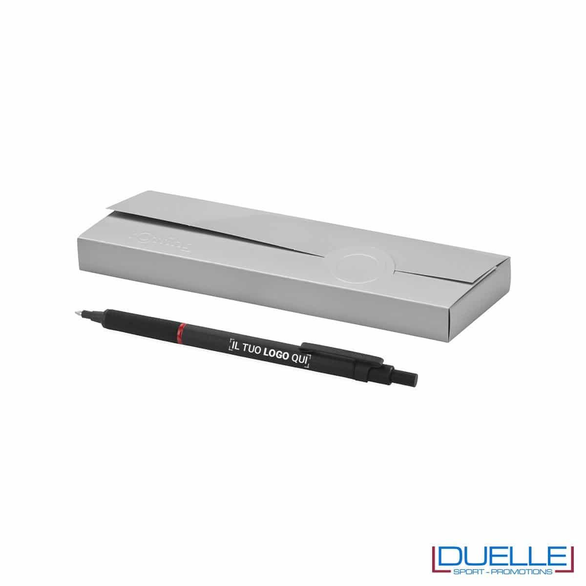 penna personalizzata rOtring rapid pro colore nero, penne promozionali personalizzate rOtring per regali aziendali