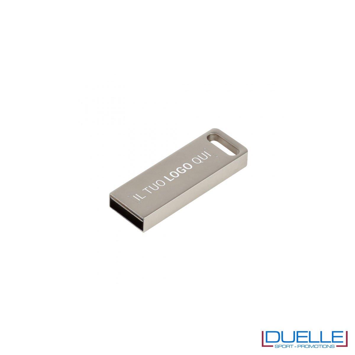 Chiavetta USB 3.0 personalizzata silver