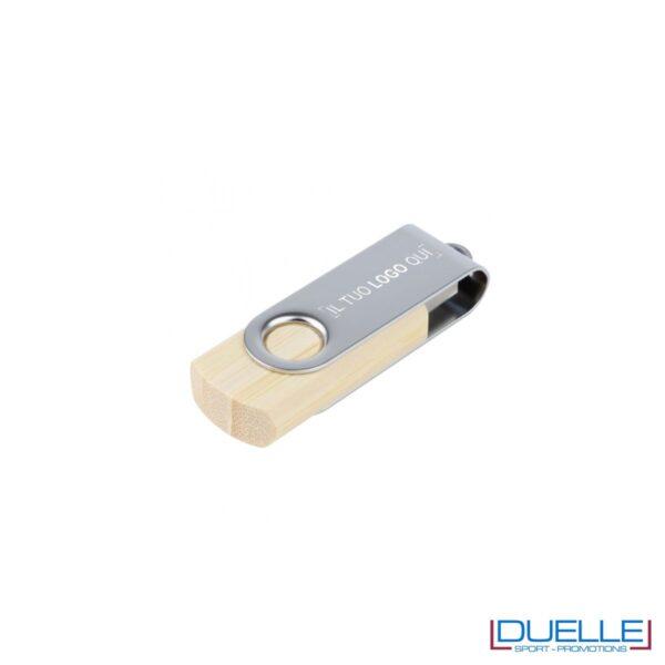 Pennetta USB ecologica personalizzata in legno con chiusura a rotazione