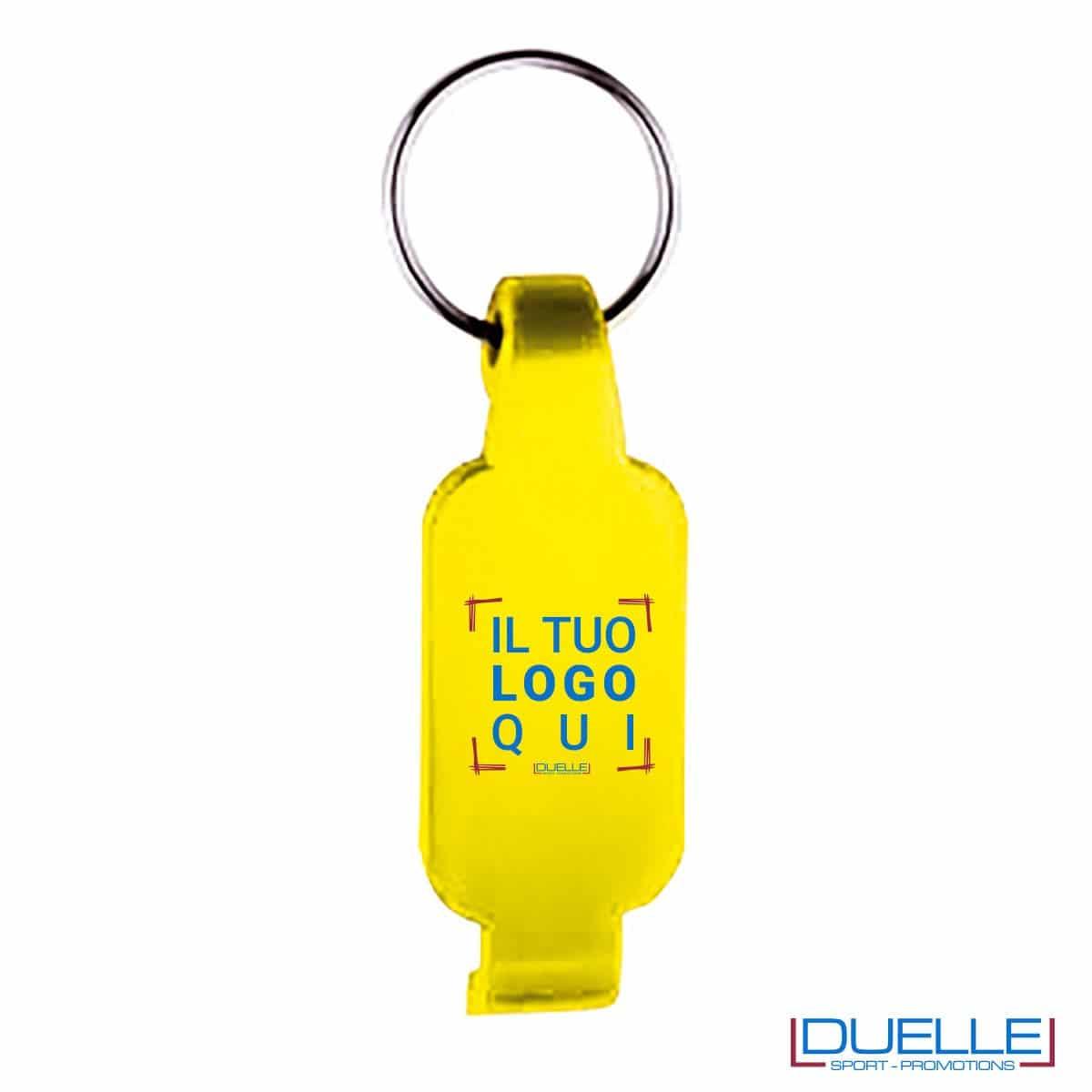 Portachiavi apribottiglie personalizzato colore giallo