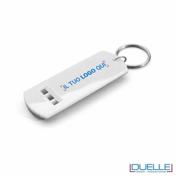 fischietto personalizzato portachiavi colore bianco, gadget tifo, gadget portachiavi, gadget personalizzato