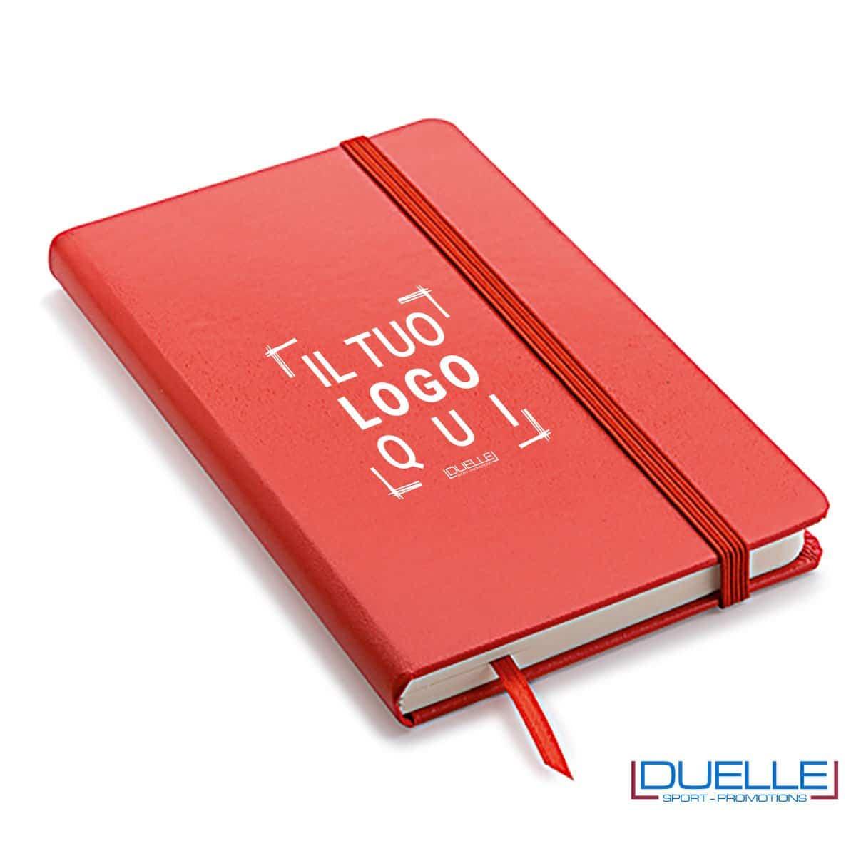 Quaderno appunti personalizzabile tipo moleskine A5 rosso