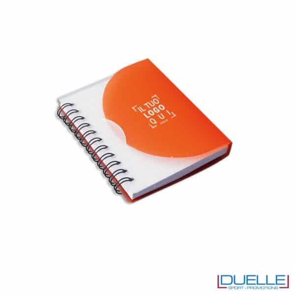 Quaderno personalizzato in plastica traslucida arancione