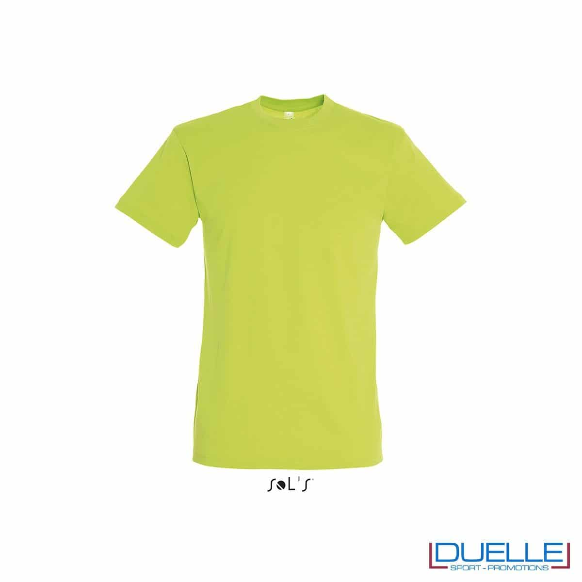 T-shirt in cotone colore verde lime
