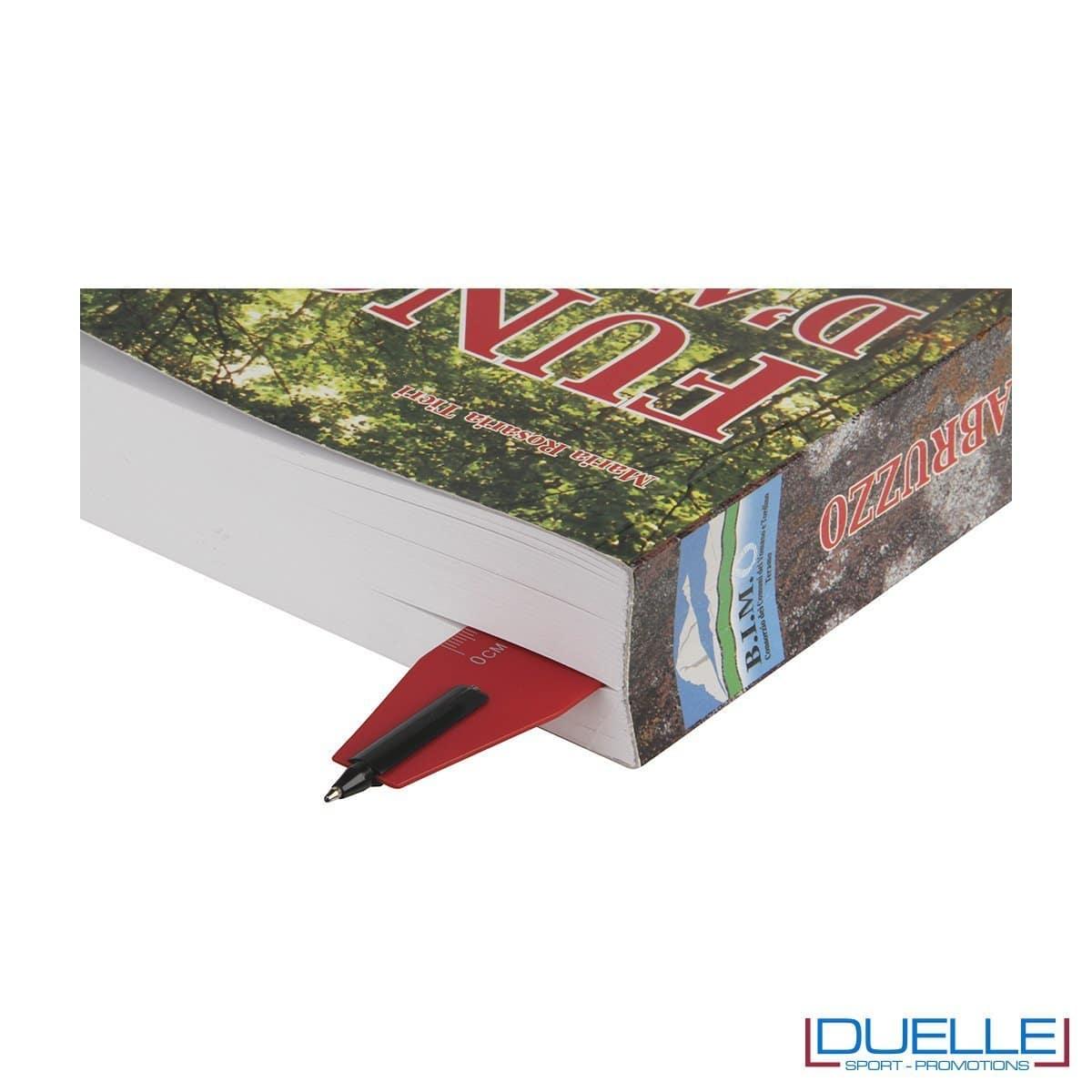 Penna con righello personalizzata colore rosso