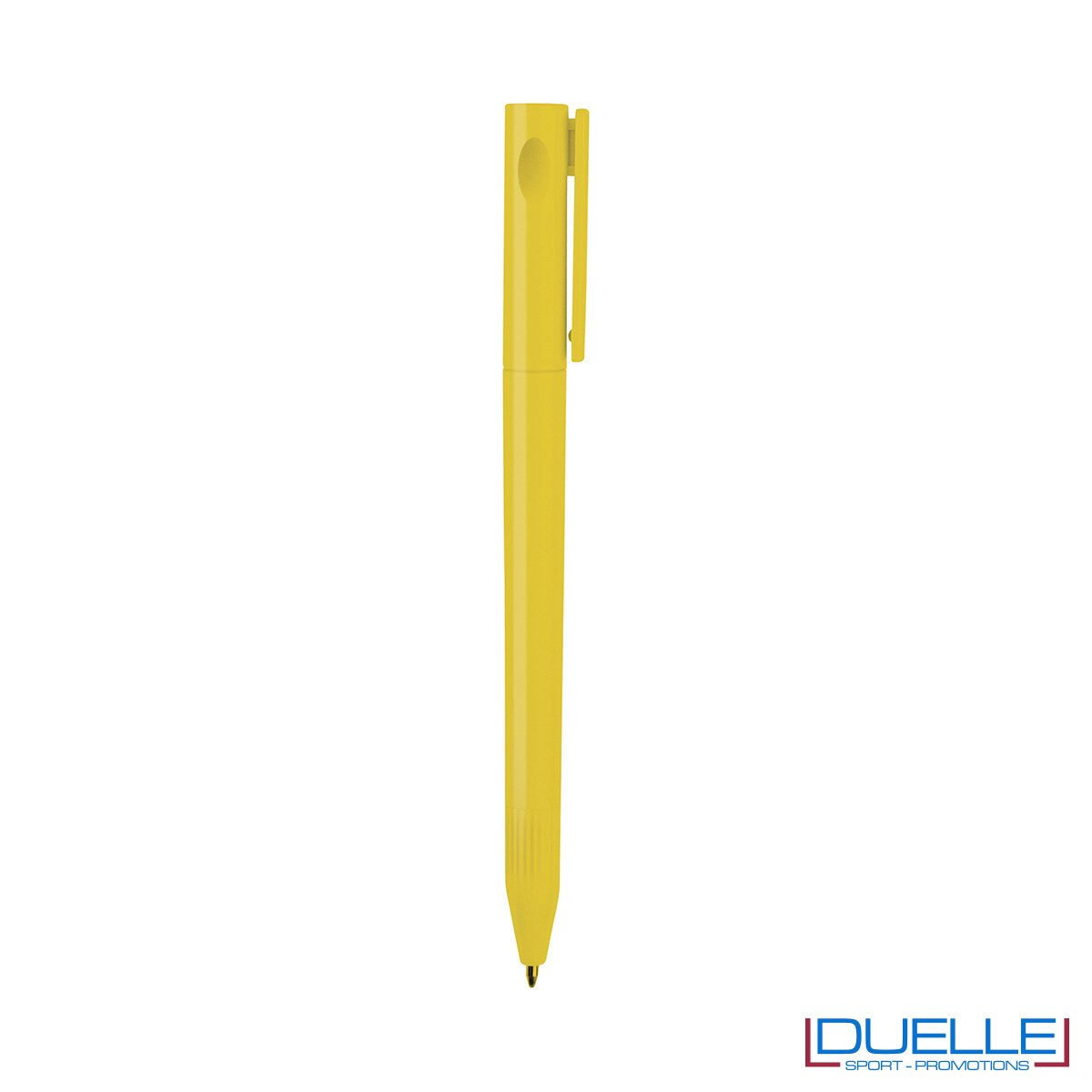 Penna Economica Personalizzata chiusura rotazione colore giallo