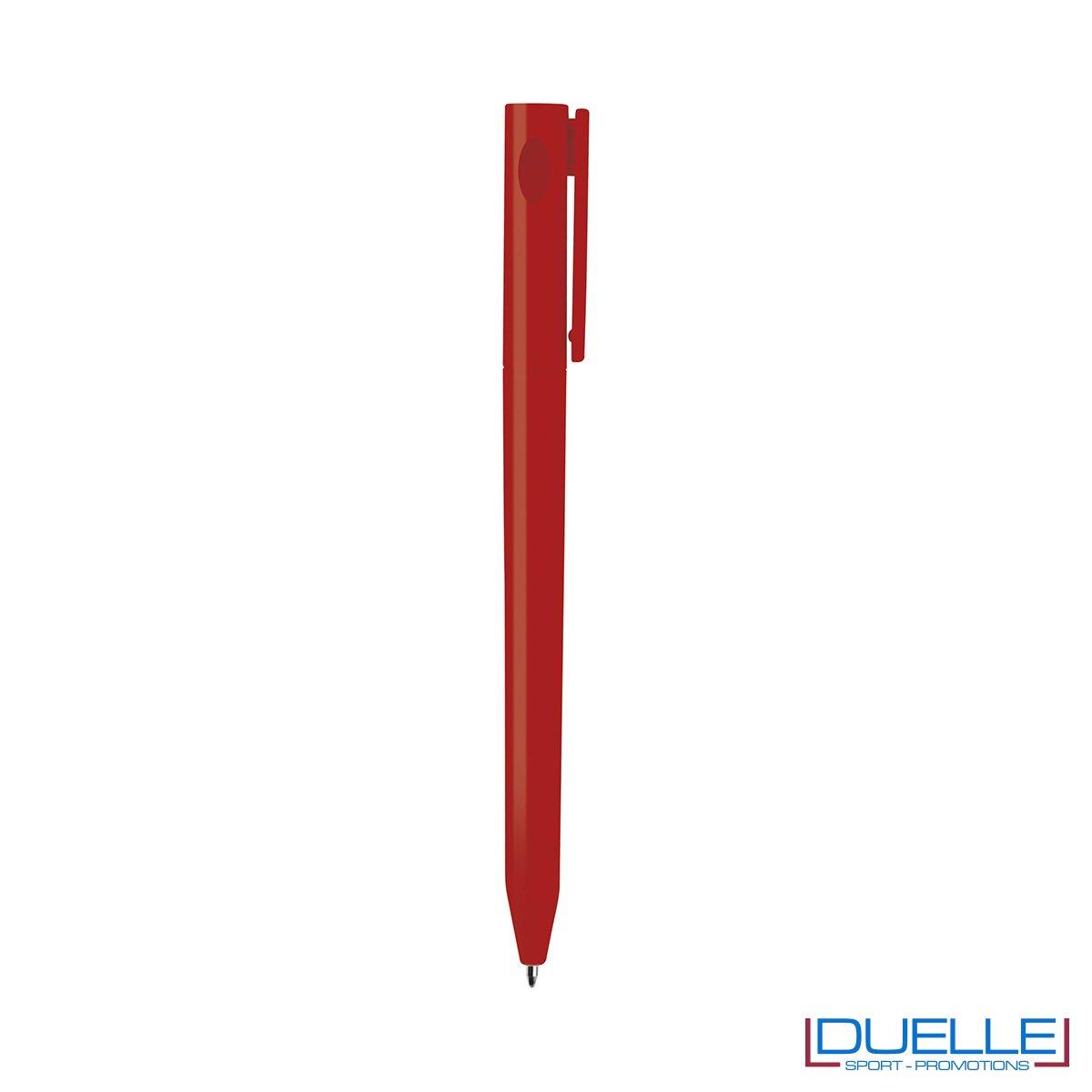 Penna Economica Personalizzata chiusura rotazione colore rosso