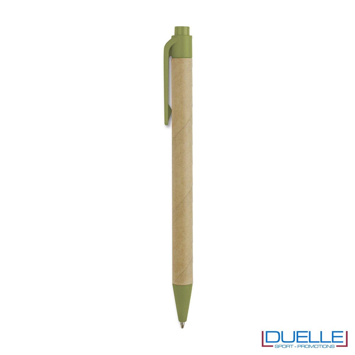 Penna a sfera in lpastica biodegradabile e cartone.