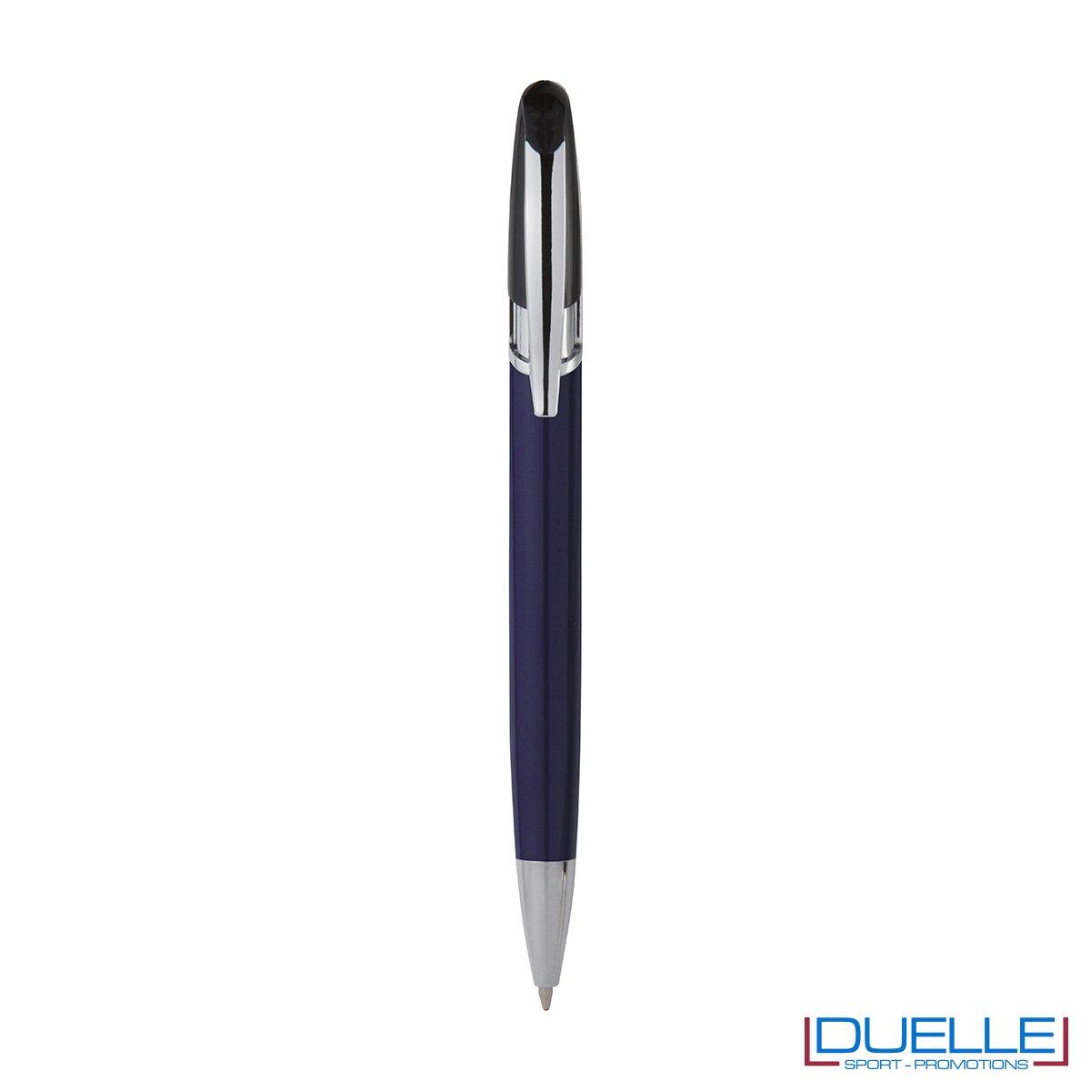 Penna personalizzata a sfera clip in metallo colore blu navy