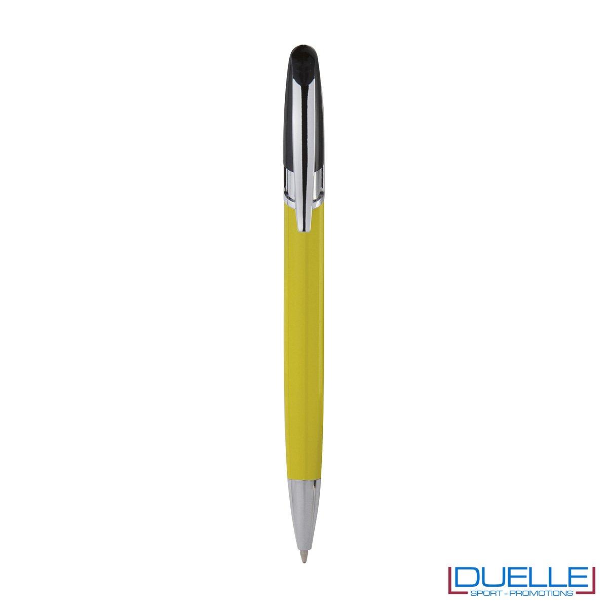 Penna personalizzata a sfera clip in metallo colore giallo