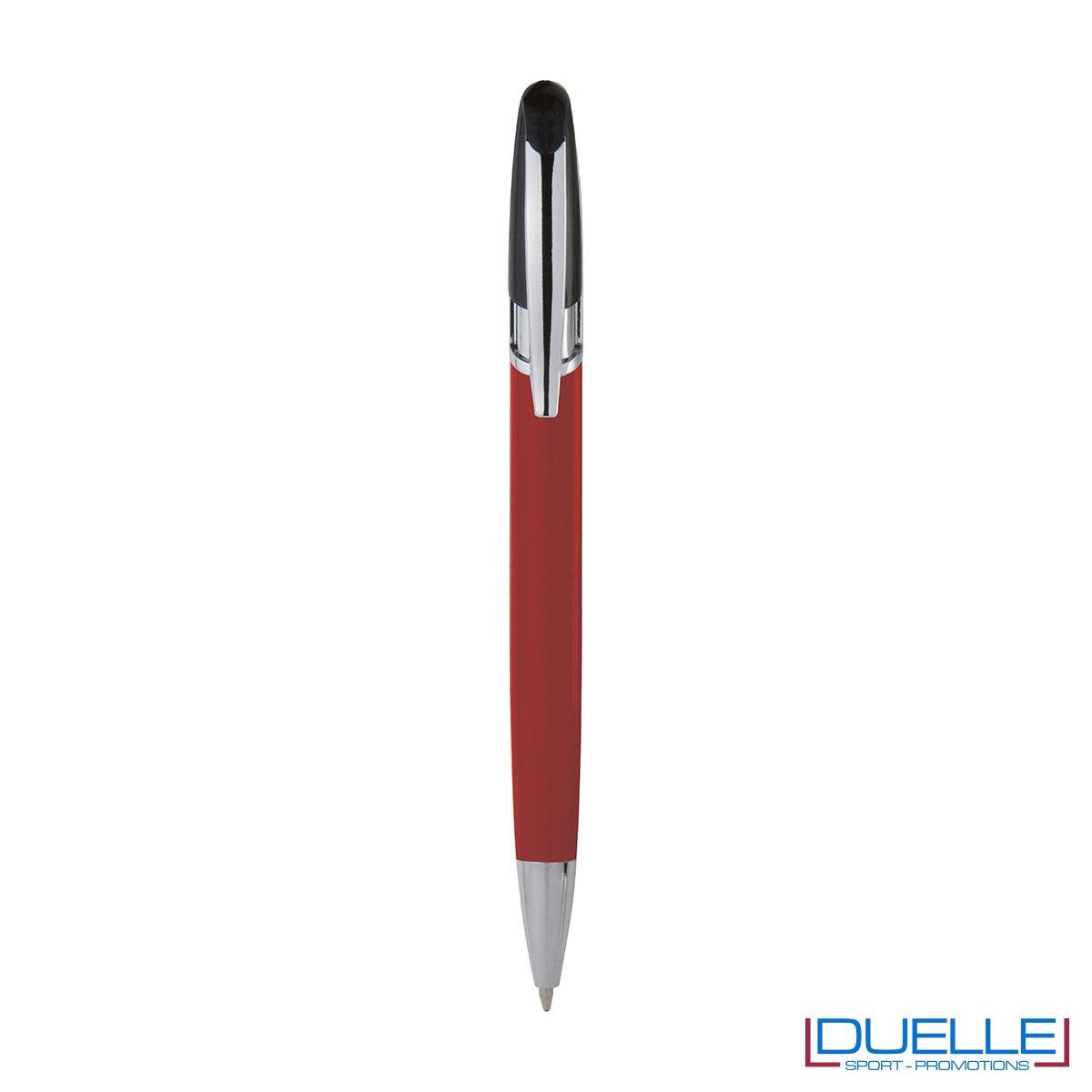 Penna personalizzata a sfera clip in metallo colore rosso