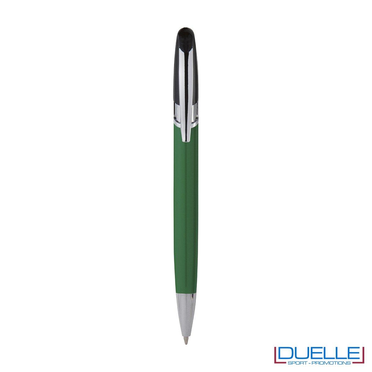 Penna personalizzata a sfera clip in metallo colore verde