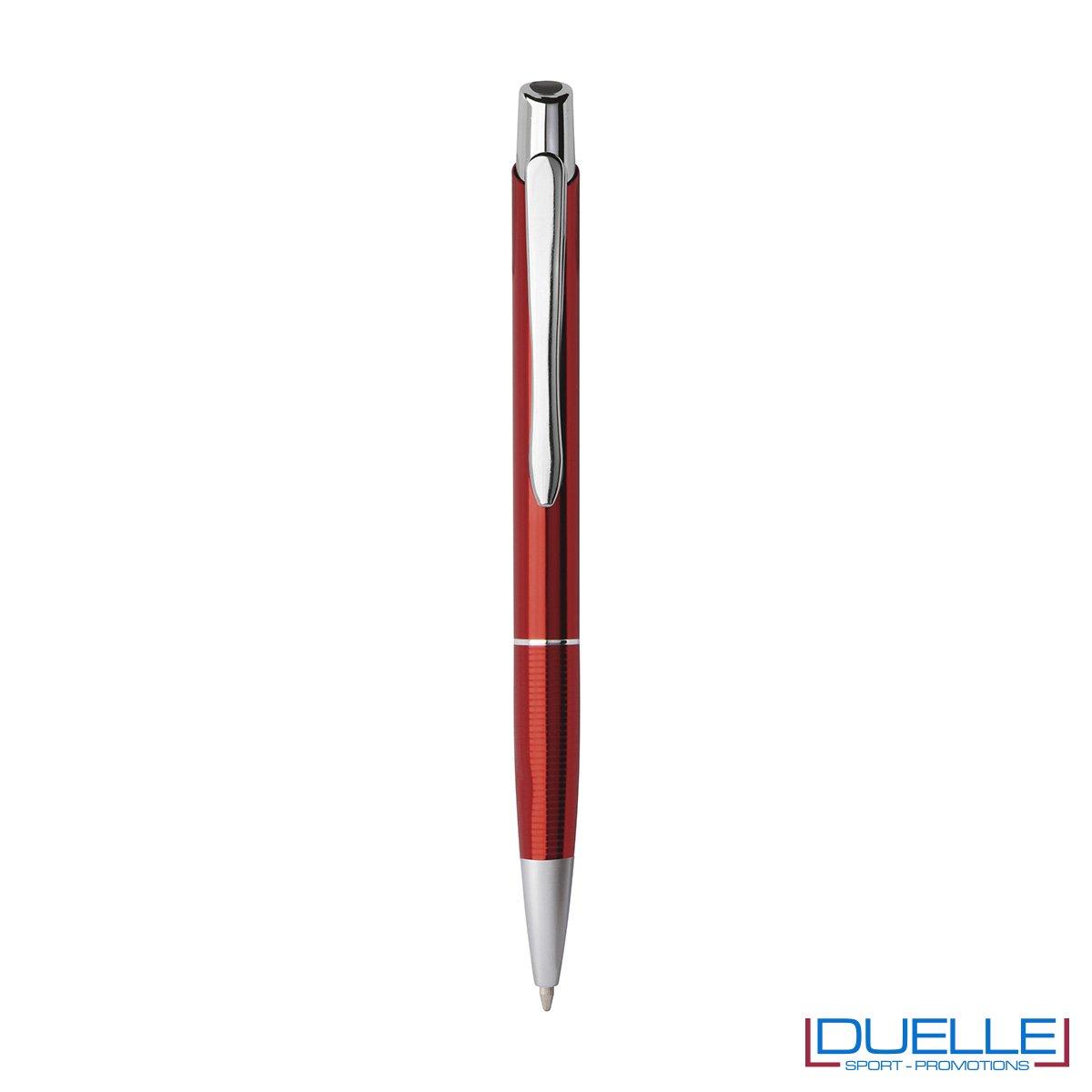 Penna a sfera con fusto in alluminio anodizzato personalizzabile con incisione laser.