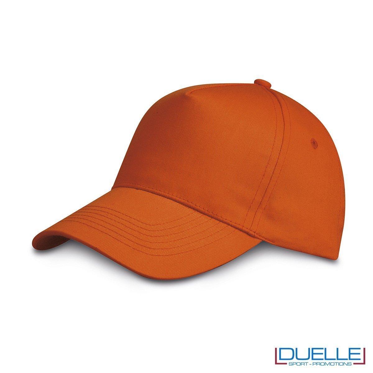 cappellino personalizzato golf a 5 pannelli colore arancione