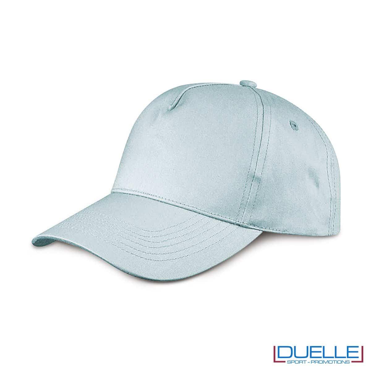 cappellino personalizzato golf a 5 pannelli colore azzurro