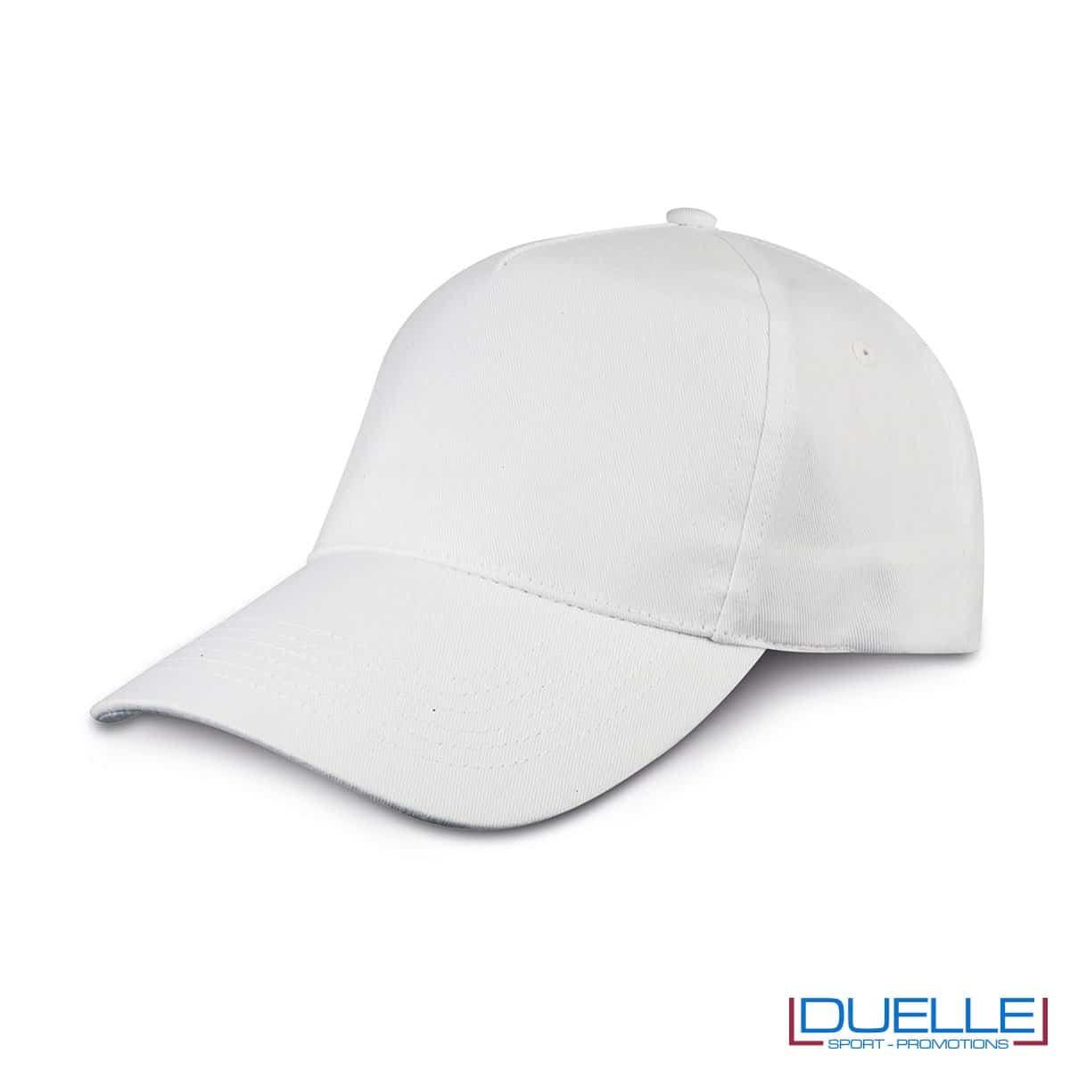 cappellino personalizzato golf a 5 pannelli colore bianco