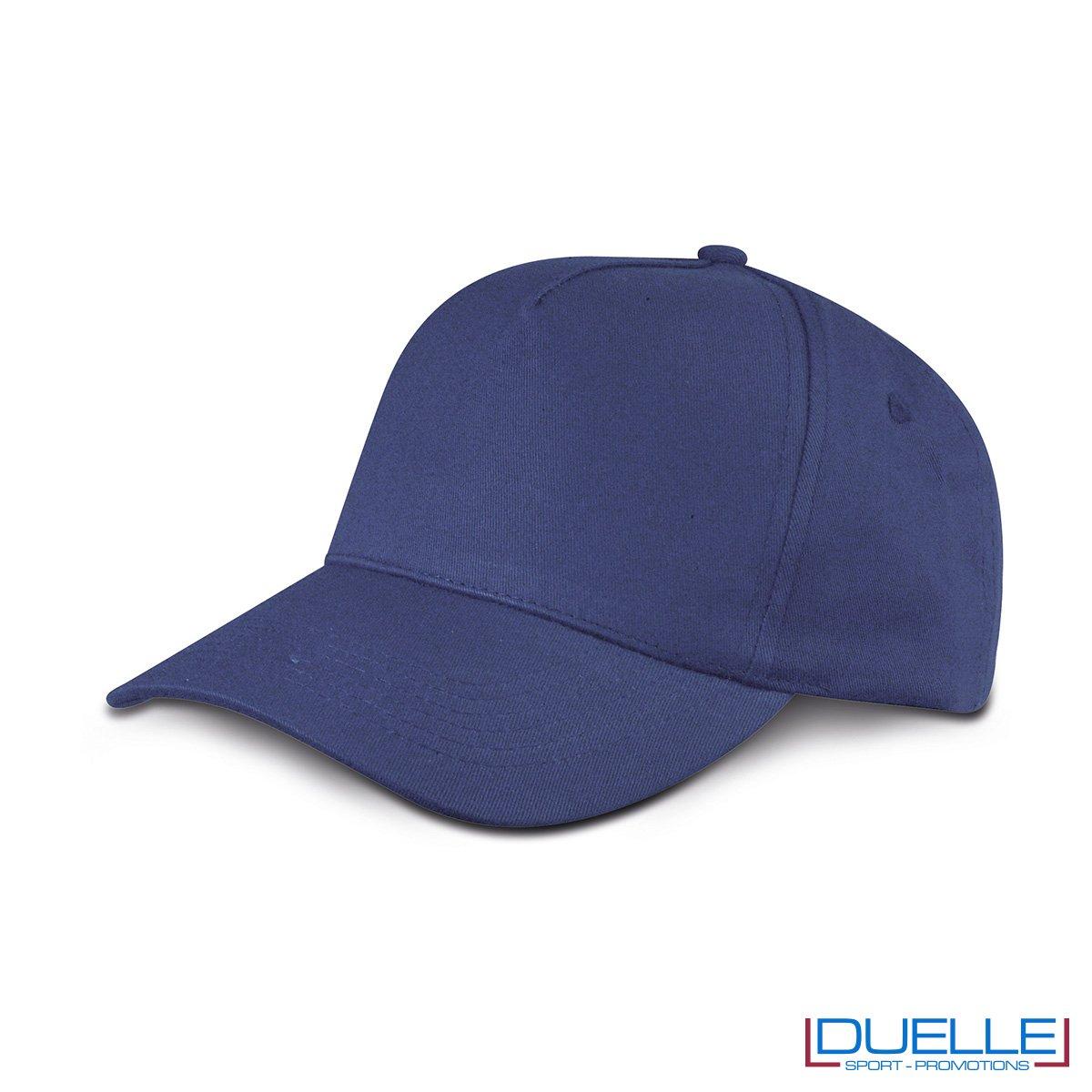 cappellino personalizzato golf a 5 pannelli colore blu navy