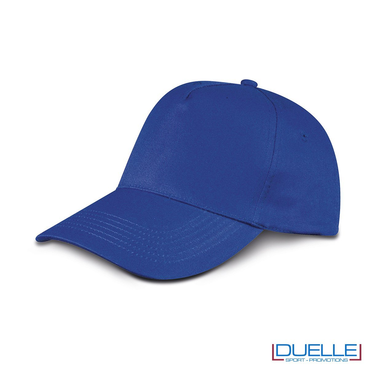 cappellino personalizzato golf a 5 pannelli colore blu royal