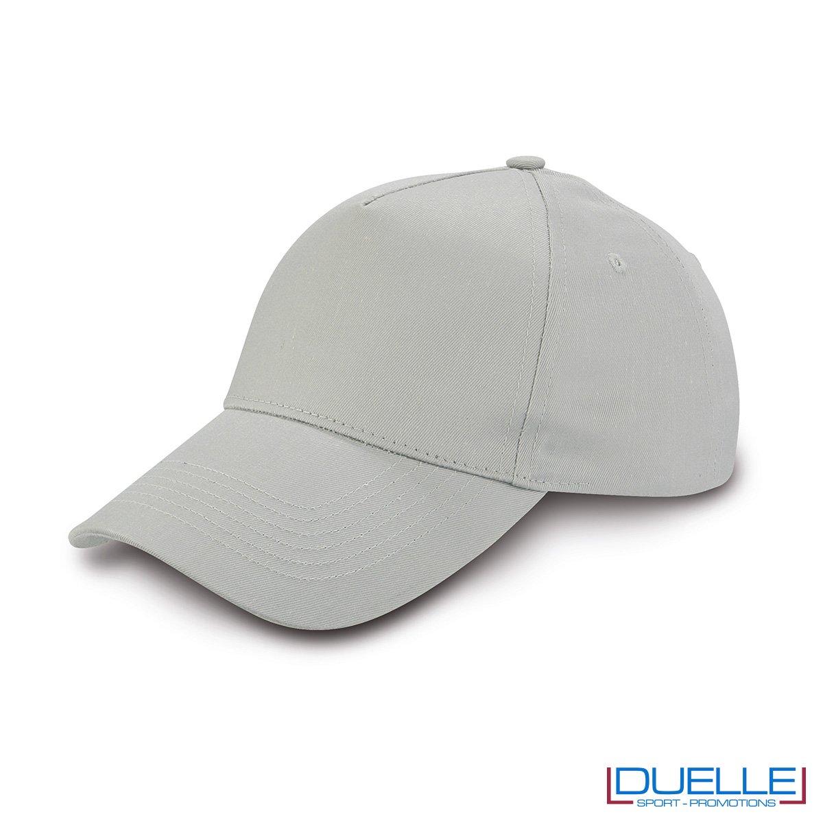cappellino personalizzato golf a 5 pannelli colore grigio