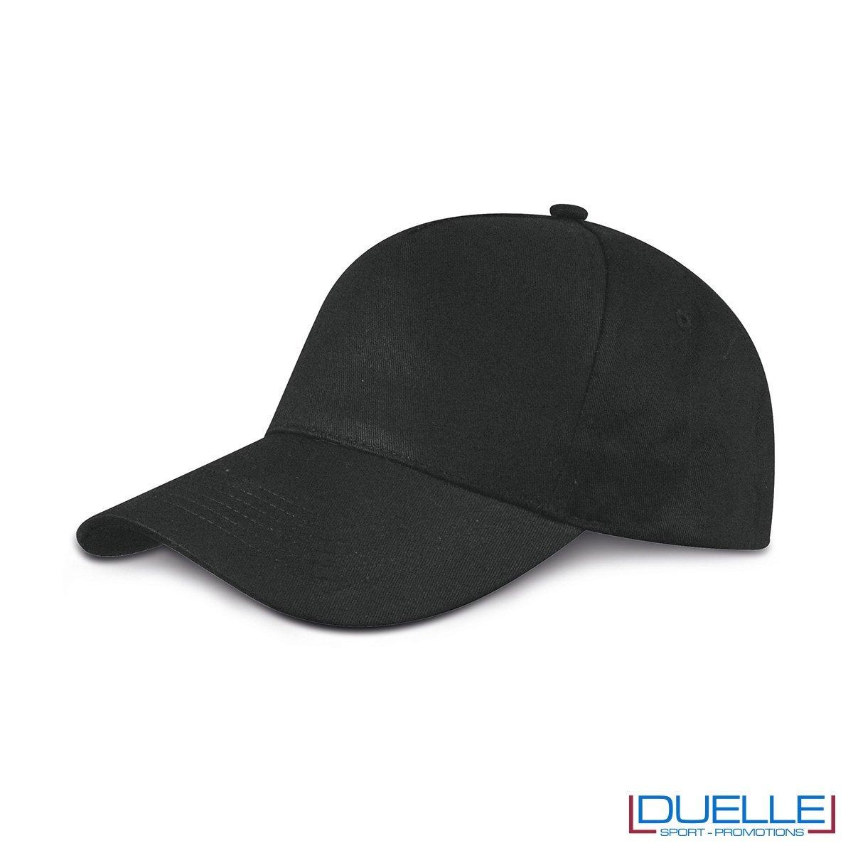 cappellino personalizzato golf a 5 pannelli colore nero
