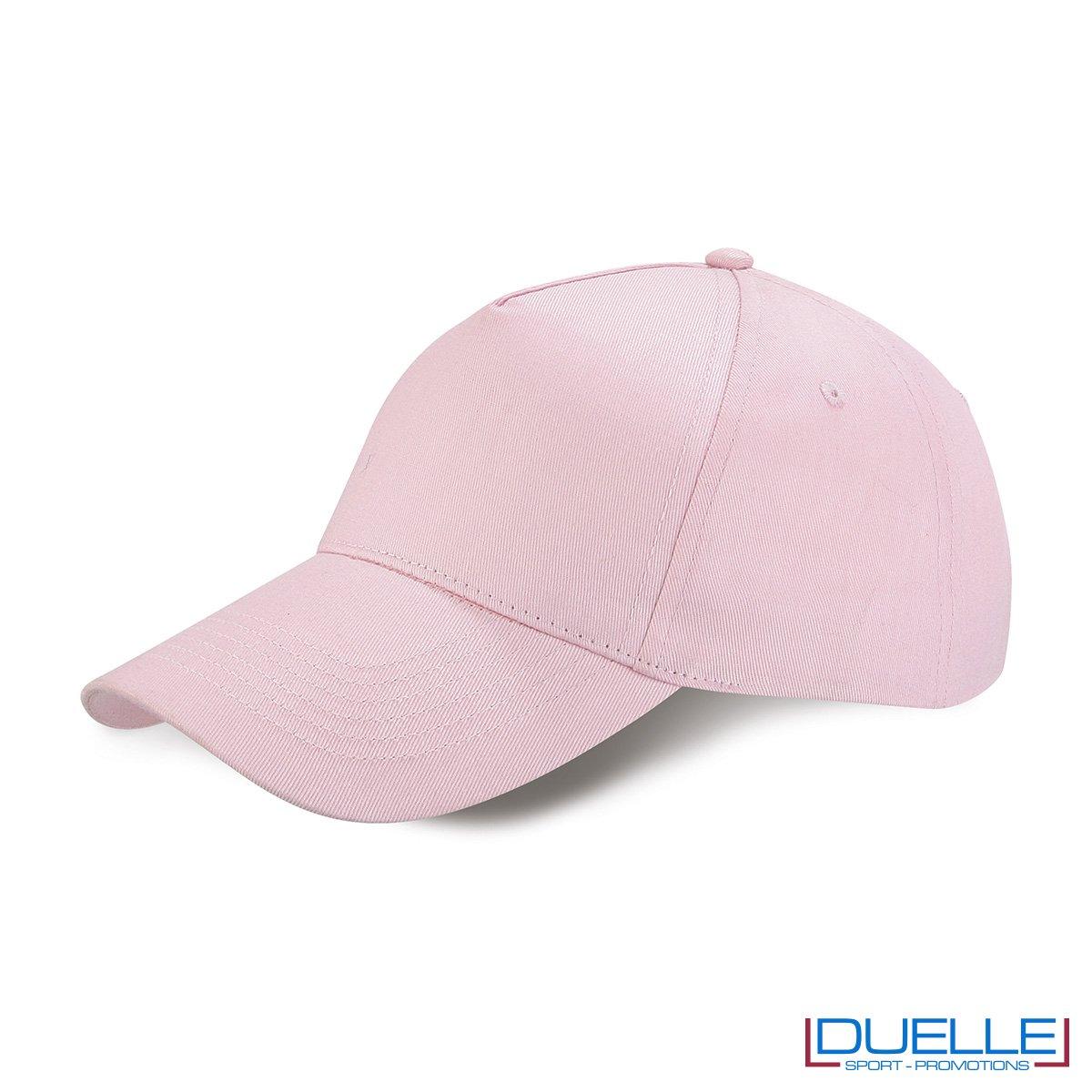 cappellino personalizzato golf a 5 pannelli colore rosa