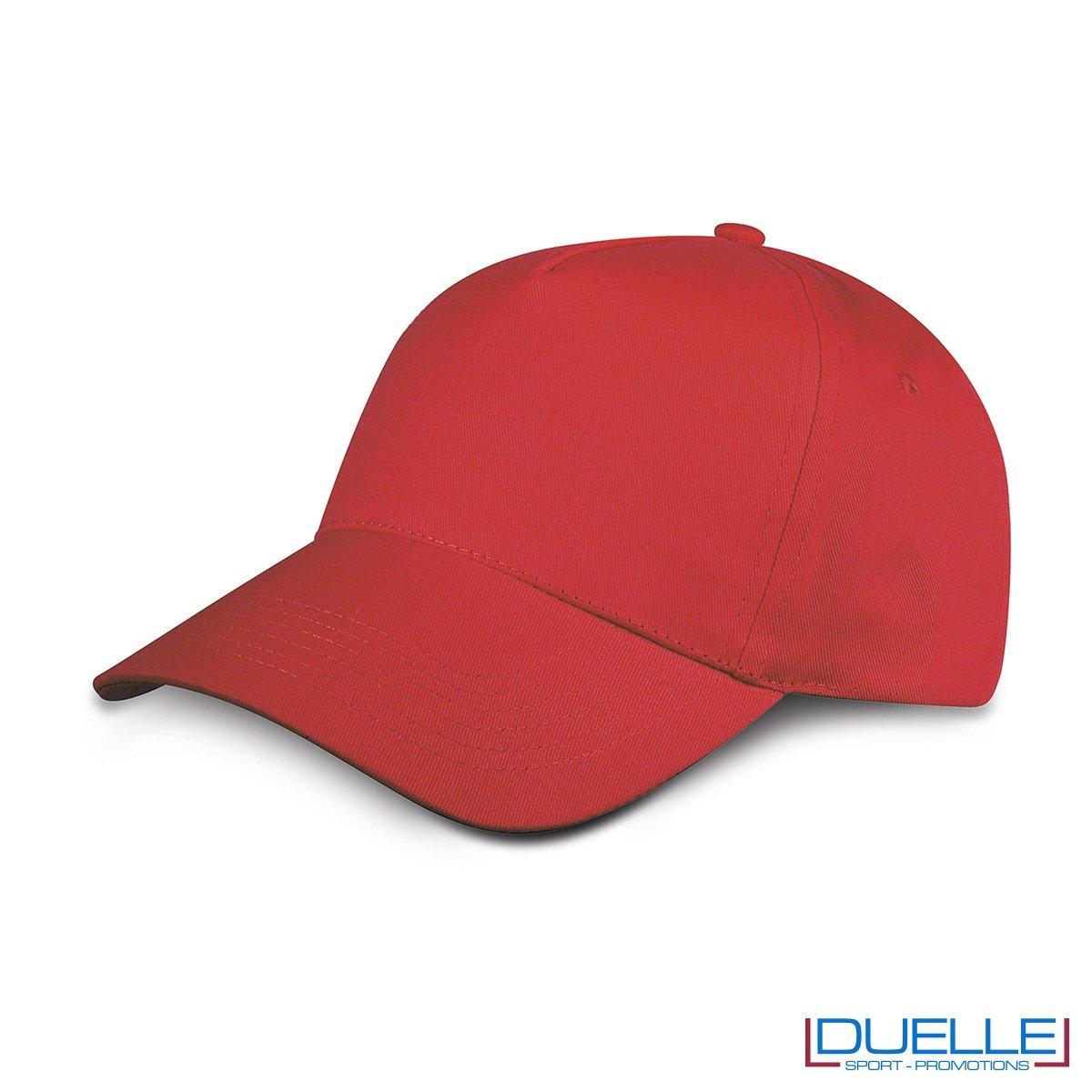 cappellino personalizzato golf a 5 pannelli colore rosso
