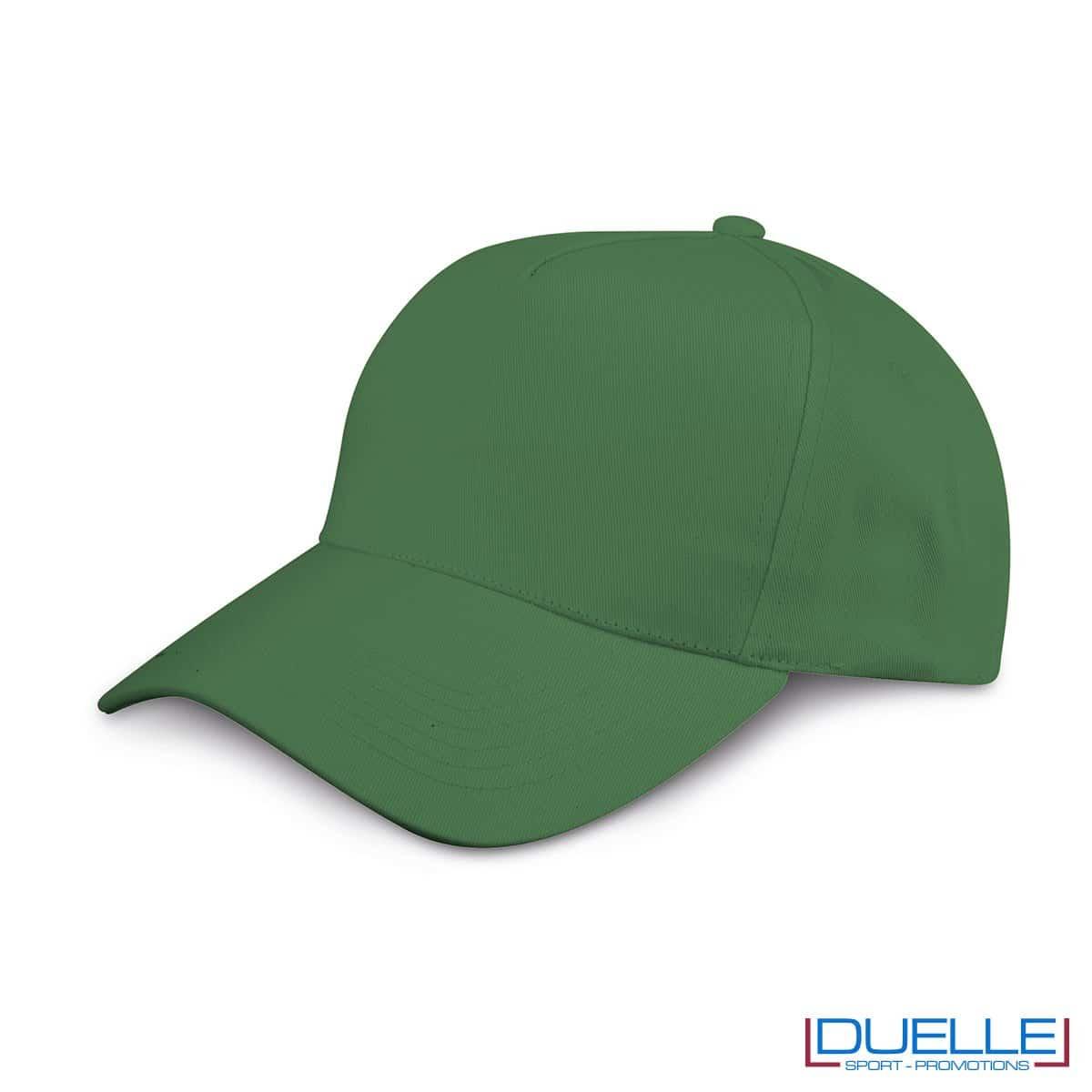 cappellino personalizzato golf a 5 pannelli colore verde