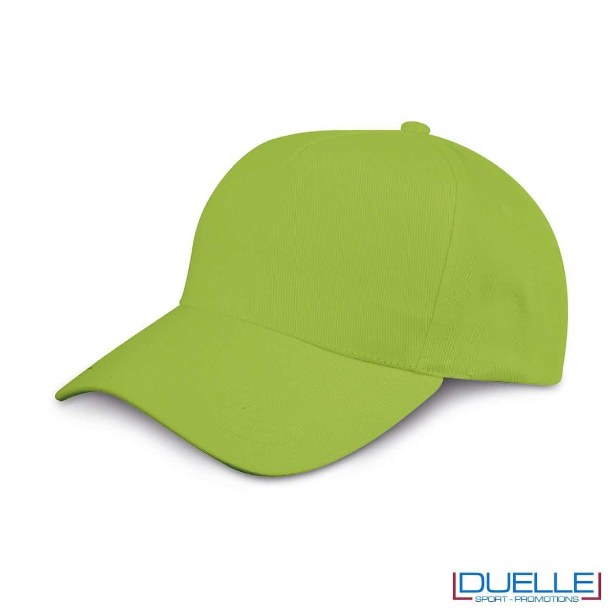 cappellino personalizzato golf a 5 pannelli colore verde acido