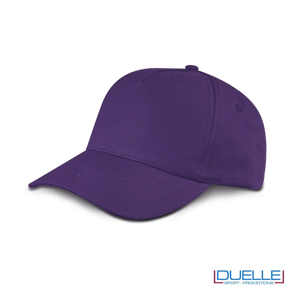 cappellino personalizzato golf a 5 pannelli colore viola