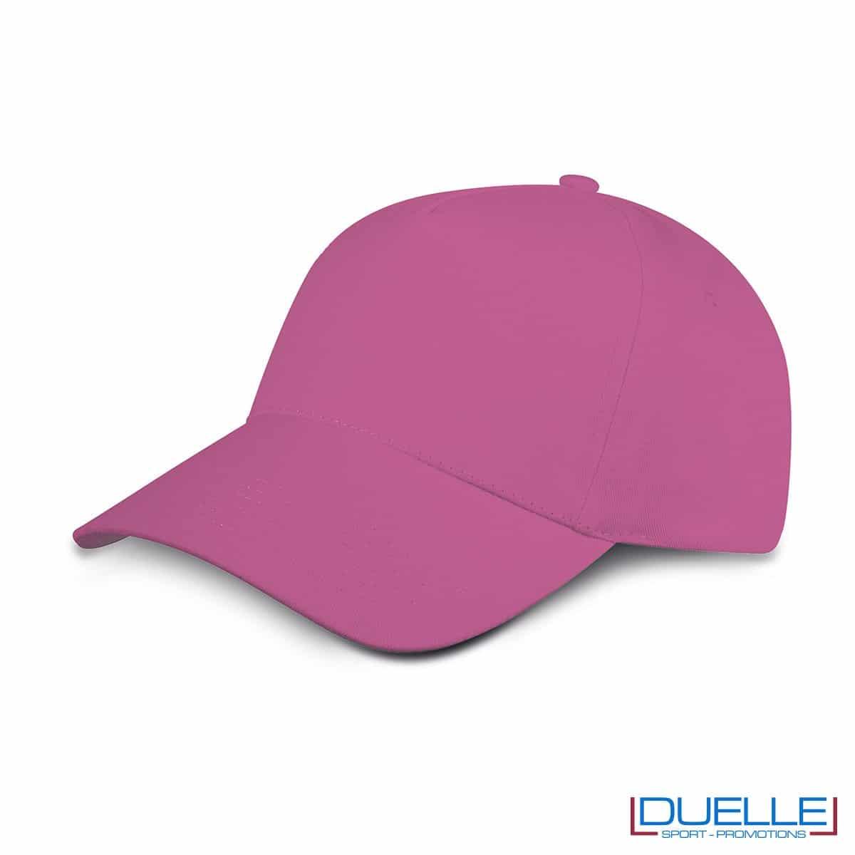 cappellino personalizzato golf a 5 pannelli colore fuxia