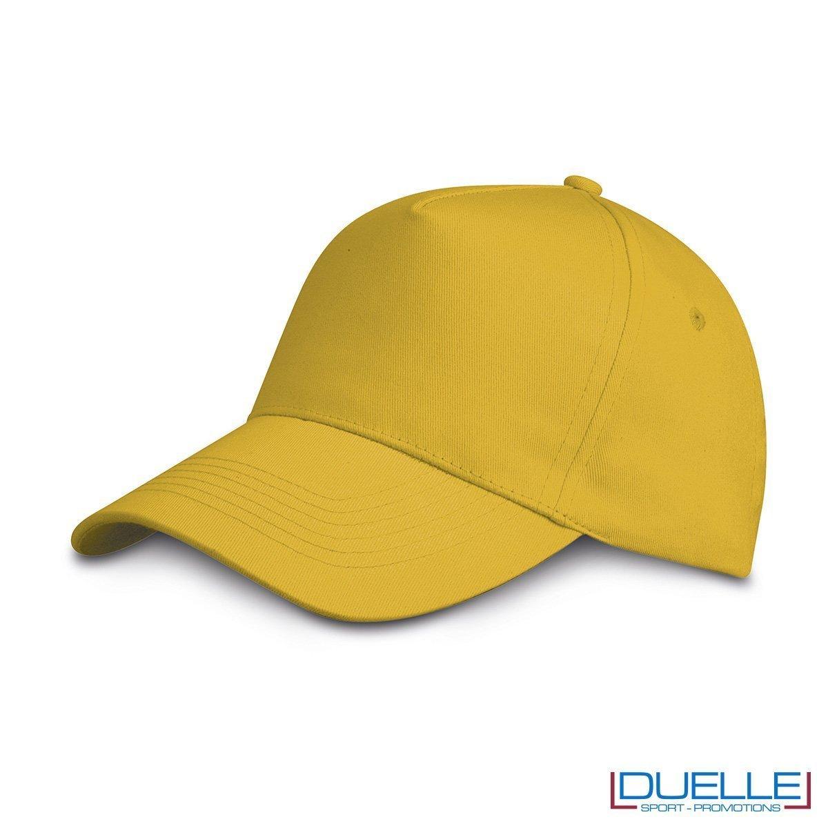 cappellino personalizzato golf a 5 pannelli colore giallo