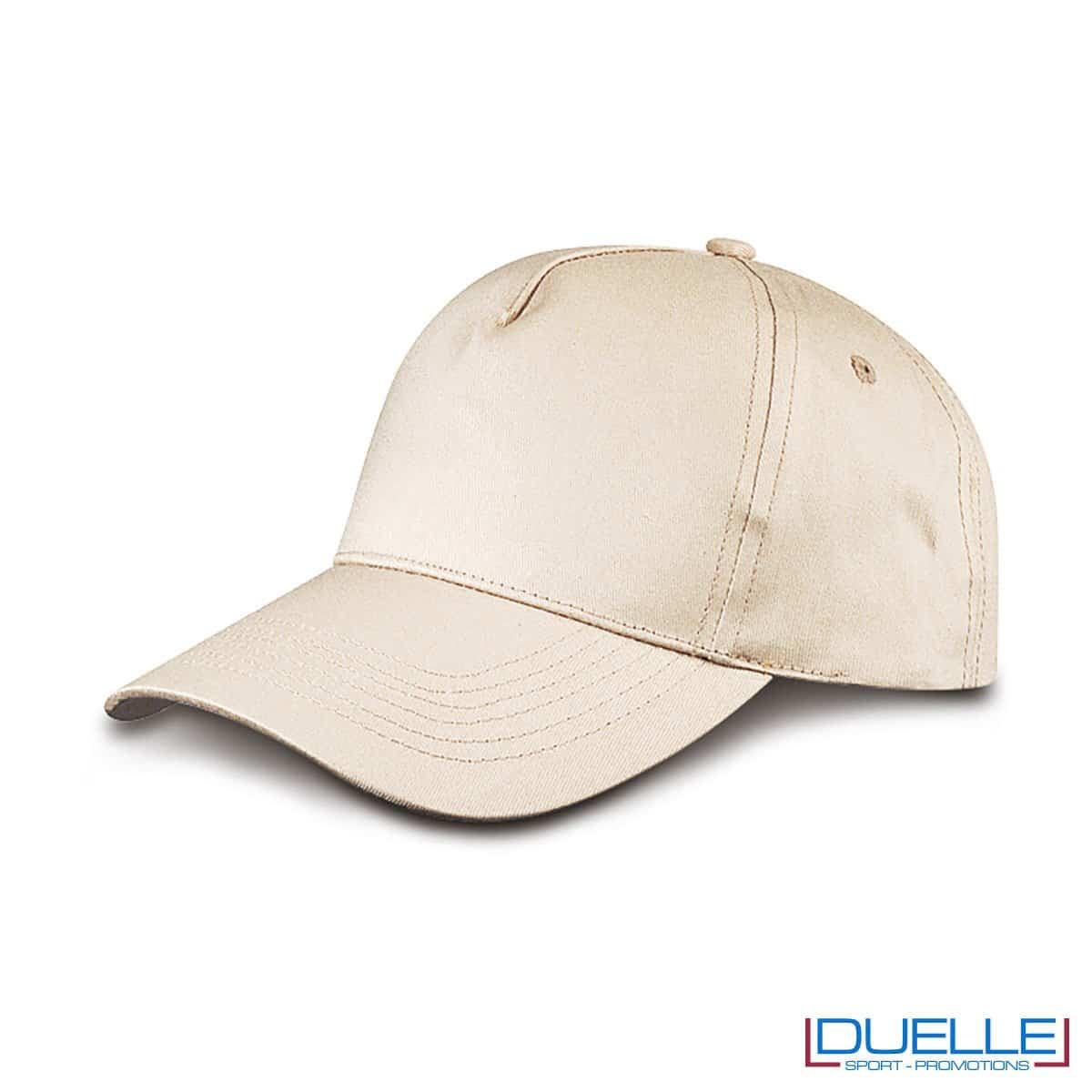 cappellino personalizzato golf a 5 pannelli colore cotone naturale