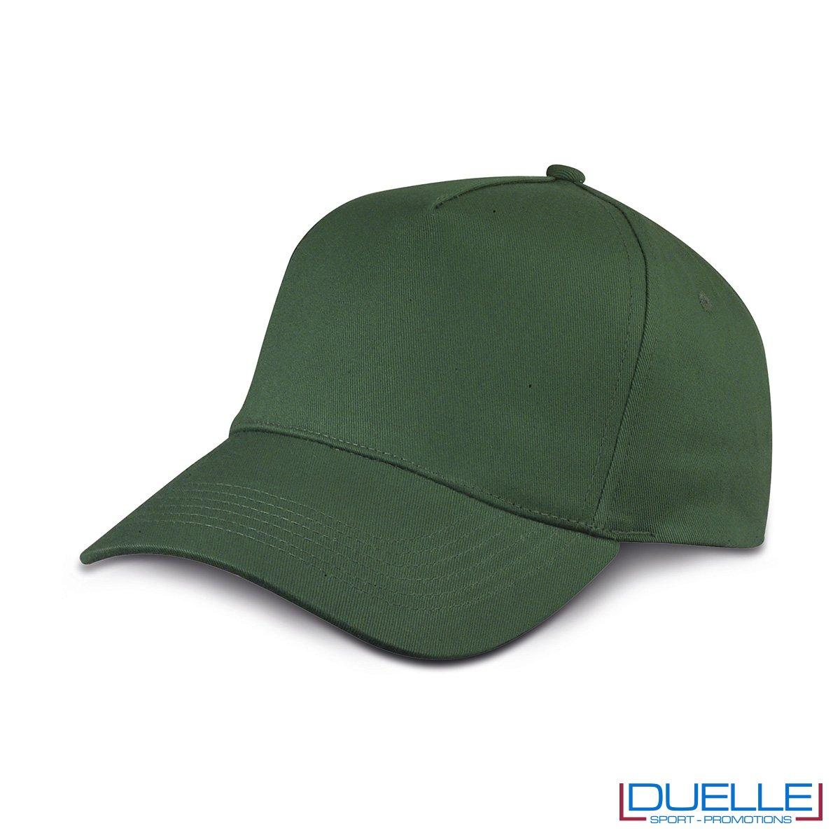 cappellino personalizzato golf a 5 pannelli colore verde scuro