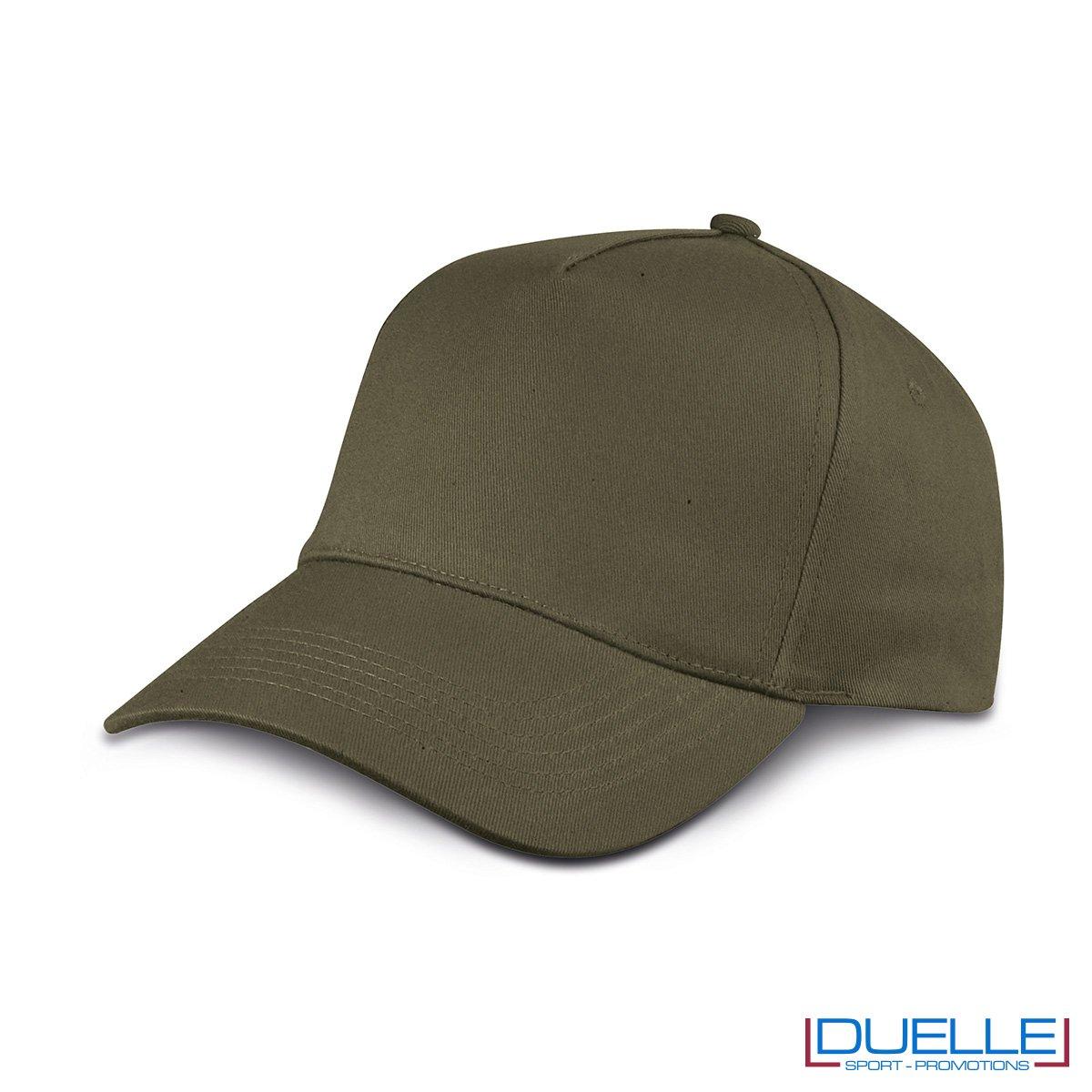 cappellino personalizzato golf a 5 pannelli colore verde militare