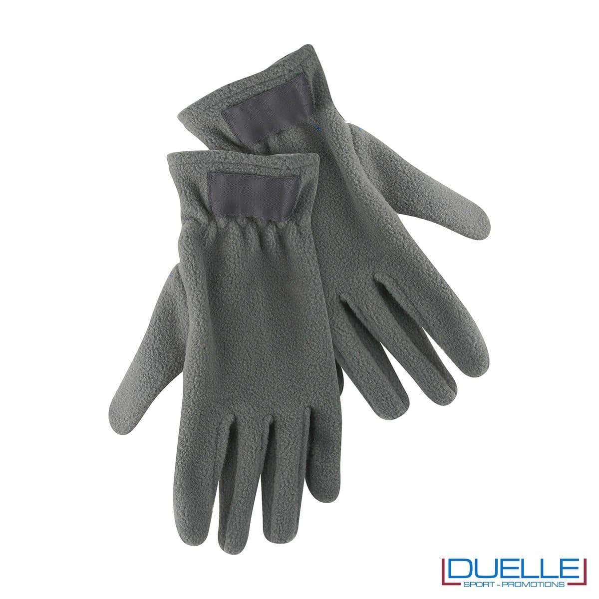 guanti in pile personalizzati in colore grigio, guanti invernali personalizzati