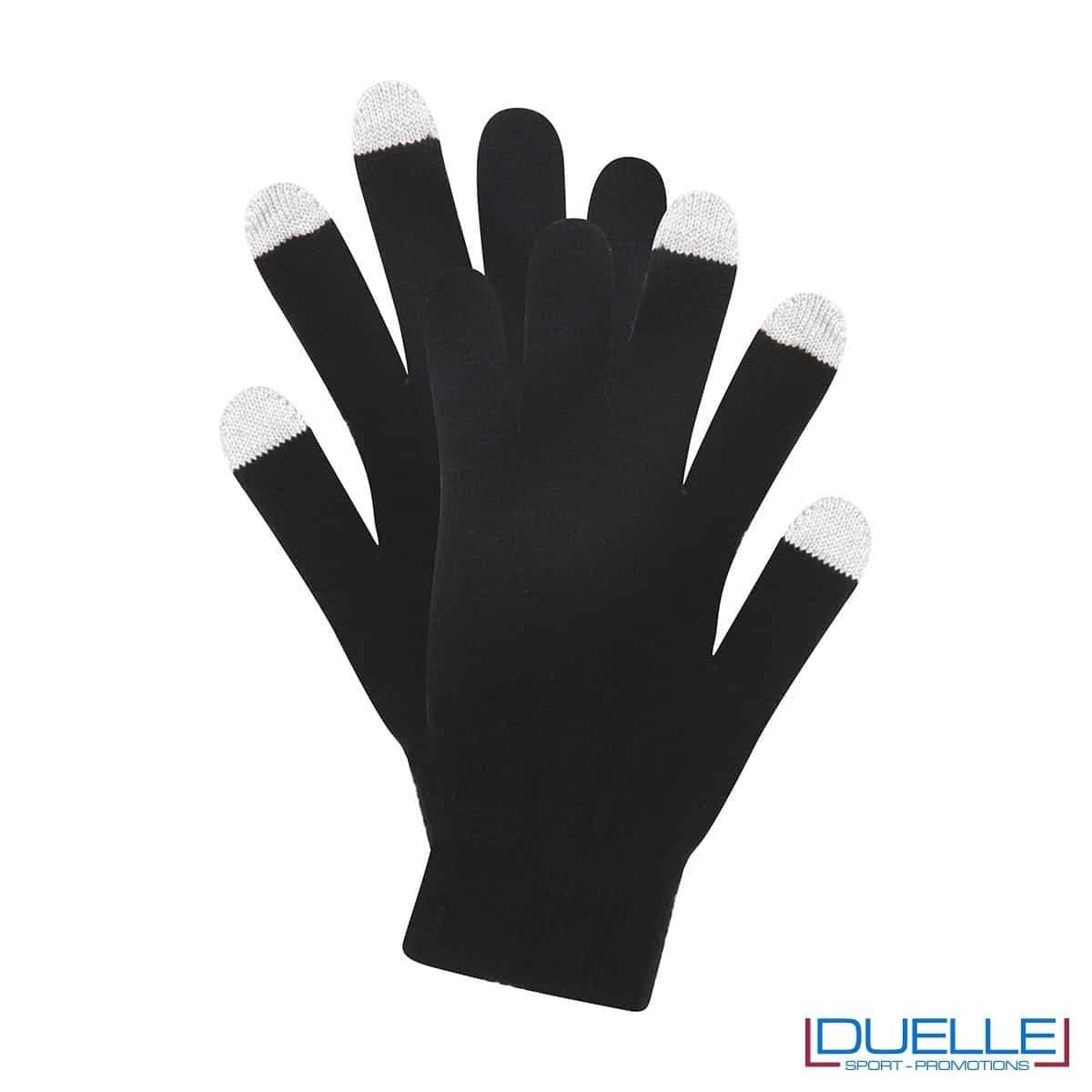 guanti touch screen personalizzati in colore nero