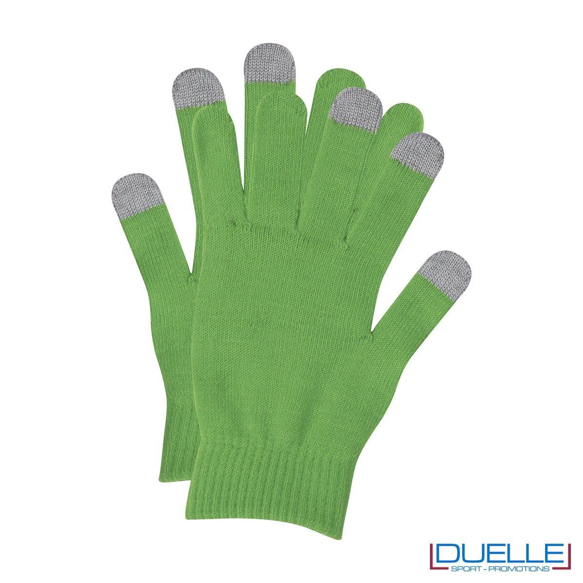 guanti touch screen personalizzati in colore verde