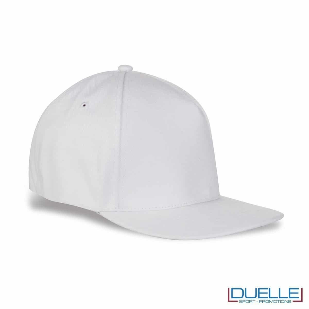 cappellino rapper personalizzato di colore bianco