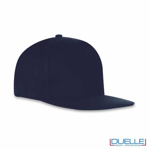 cappellino rapper personalizzato di colore blu
