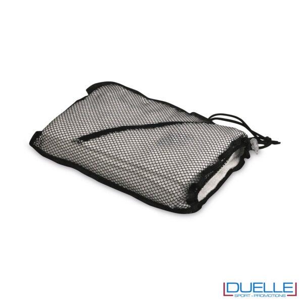 sacchetto a retina per asciugamano personalizzato da palestra e centro fitness da personalizzare con stampa a colori o ricamo, gadget sportivi personalizzati