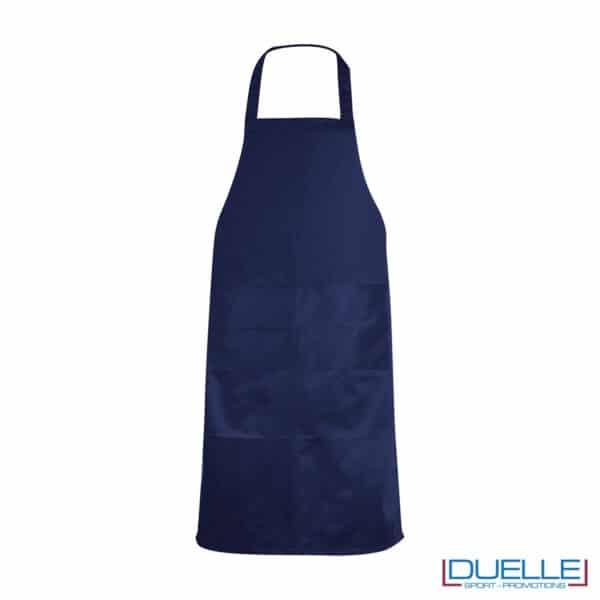 Grembiule da cucina personalizzato colore blu