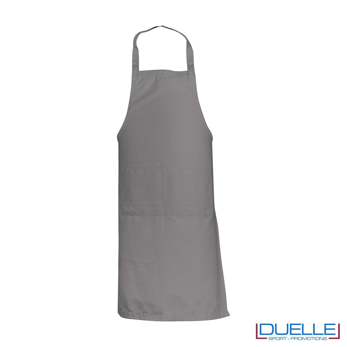 Grembiule da cucina personalizzato colore grigio