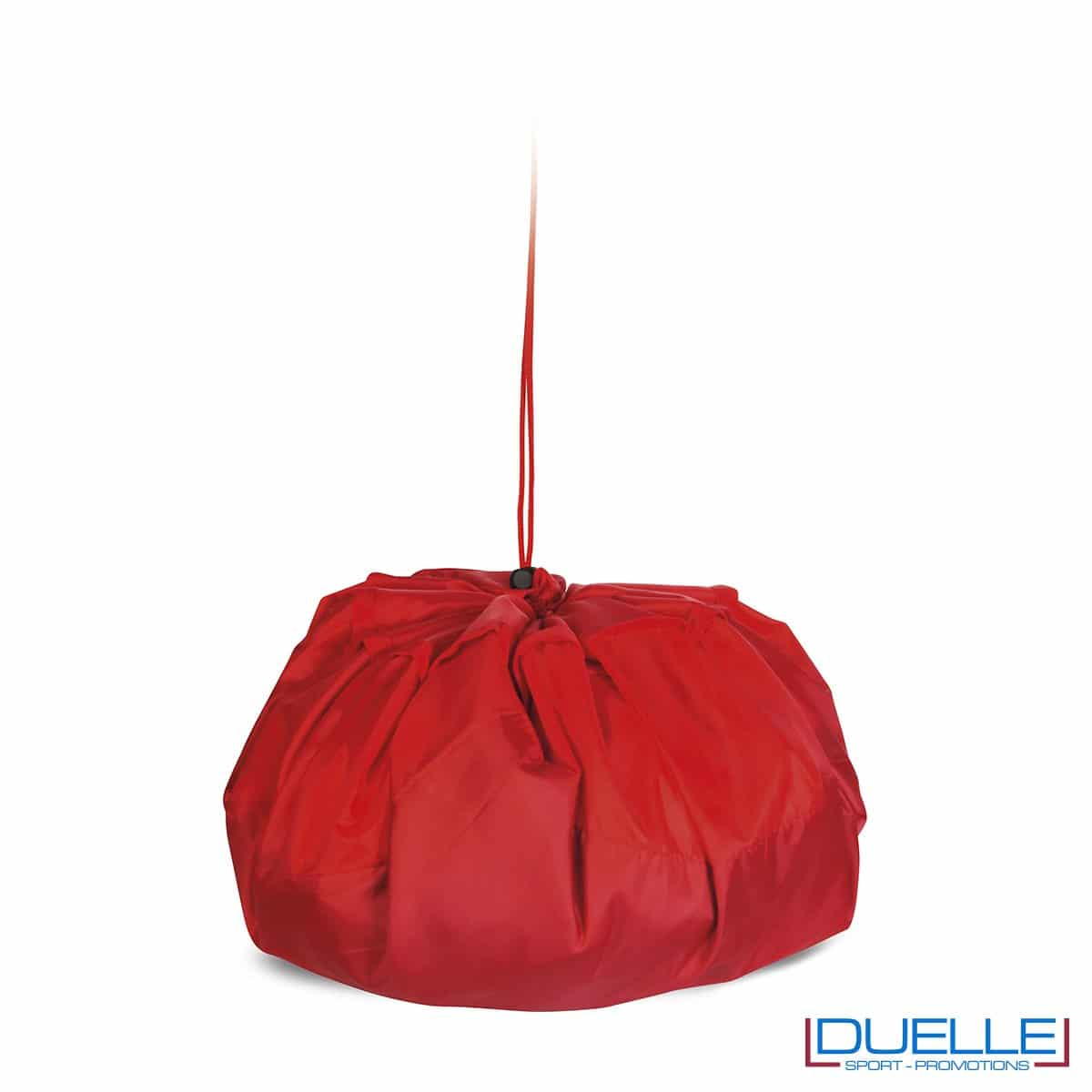 Sacco da cambio pratica colore rosso personalizzata, borse sportive personalizzate, gadget sportivi