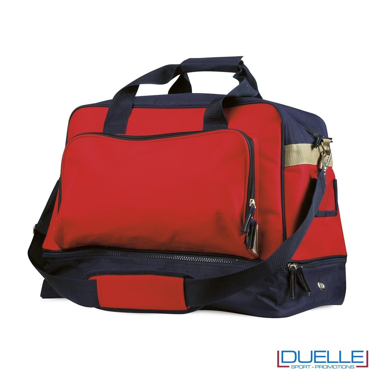 Borsone sportivo personalizzato colore ROSSO , gadget sport personalizzato, gadget personalizzati