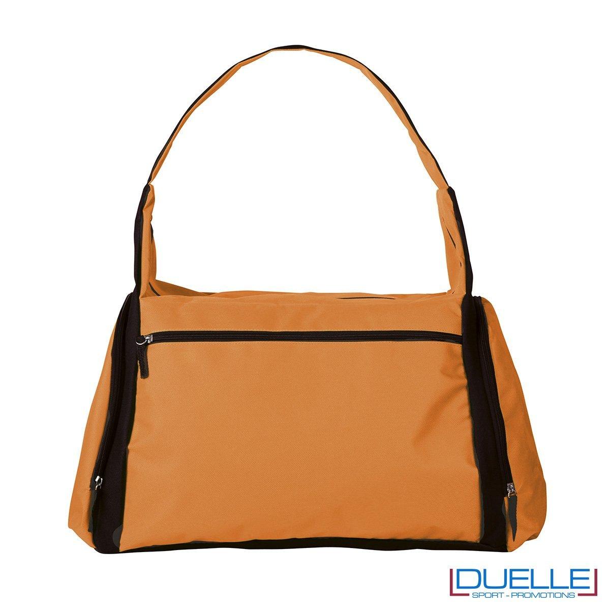 borsa sportiva colore arancione ideale per la palestra, borse sportive personalizzate, gadget sportivi personalizzati