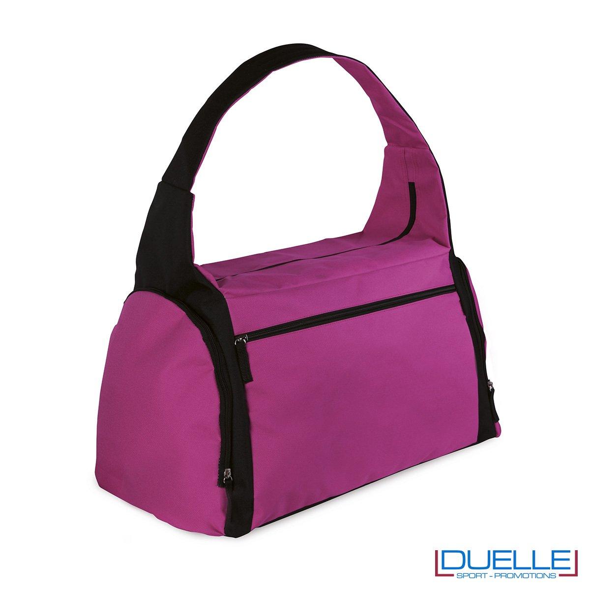 borsa sportiva colore FUXIA ideale per la palestra, borse sportive personalizzate, gadget sportivi personalizzati