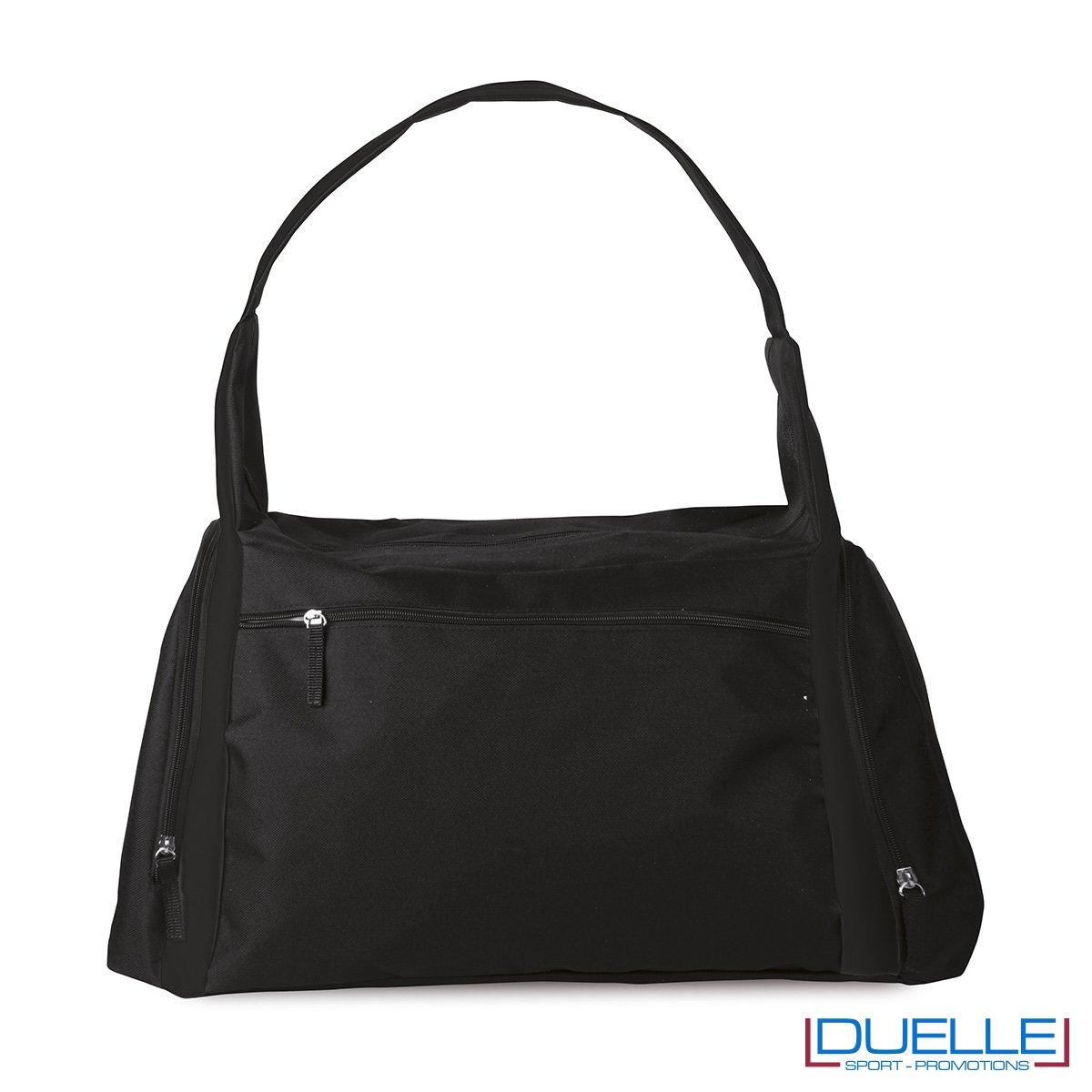 borsa sportiva colore NERA ideale per la palestra, borse sportive personalizzate, gadget sportivi personalizzati