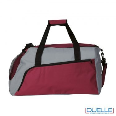Borsone sportivo personalizzato colore ROSSO e GRIGIO, borse sport personalizzate, gadget sportivi personalizzati