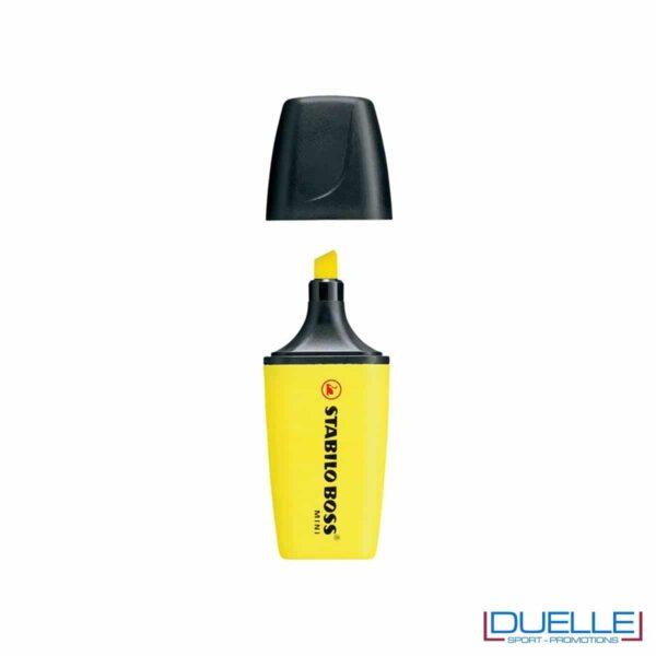 evidenziatore personalizzato stabilo boss mini colore giallo, evidenziatori personalizzabili personalizzati mini gialli